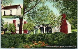 1949 Tuscumbia, Alabama Postcard Birthplace of Helen Keller Curteich Linen