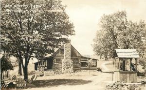 Hills Country Missouri~Wishing Well @ Old Matt's Cabin~1960 Postcard