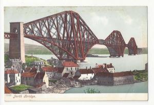 Scotland Edinburgh Forth Bridge Cantilever Railway Postcard
