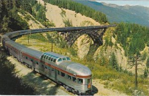 Canadian Pacific Scenic Dome Streamliner In Canadian Rockies