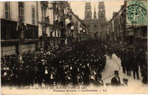 CPA ORLÉANS-La Fete de Jeanne d'Arc en 1907-Professeurs du Lycée (266104)