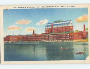Corner Wear Linen FACTORY SCENE Waterville Maine ME c6797