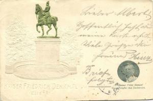 germany, KÖLN COLOGNE, Kaiser Friedrich Denkmal, Prof. Breuer (1903) Embossed