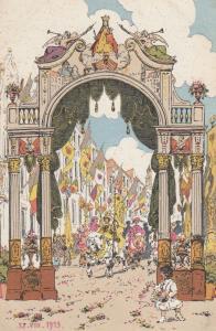 Hanswyckfeesten Meschelschen Antique 1913 Painting Religious Postcard