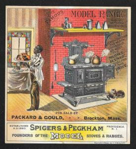 VICTORIAN TRADE CARD Spicers & Peckham Stove Black Butler
