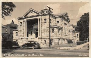 RP; ROME , Georgia , 1930-40s ; First Christian Church