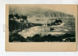3126614 PORTUGAL MADEIRA bay of FUNCHAL Loo Rock Vintage PC