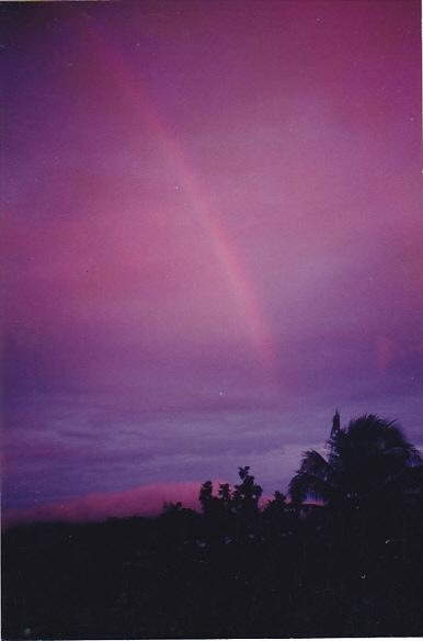 Micronesia Pohnpei Beautiful Native Rainbow Scene
