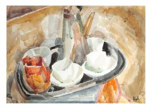 Art Postcard, The Coffee Tray (c1915-15) by Vanessa Bell BD3