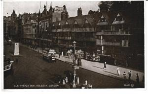 postcard LONDON HOLBORN OLD STAPLE INN Valentine's 98650 unused