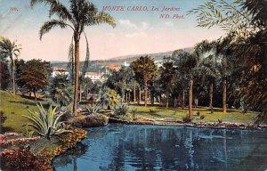 Les Jardins Monte Carlo Writing on back