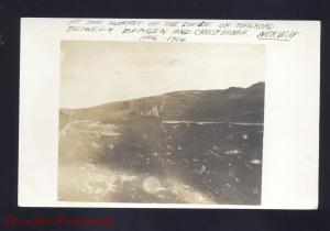 RPPC BERGEN & CHRISTIANIA NORWAY NORGE VINTAGE REAL PHOTO POSTCARD 1914