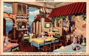 California San Francisco The Veneto Restaurant Curteich
