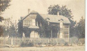 RPPC Cowlitz Prairie, Lewis County, Washington House c1910s Vintage Postcard