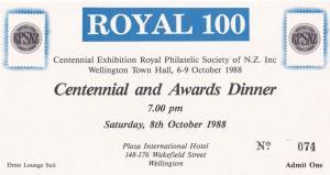 New Zealand Philatelic Society Chairman Wellington Awards Dinner Private Invi...
