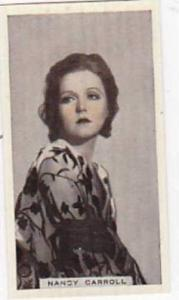 R & J Hill Vintage Cigarette Card Cinema Celebrities No 16 Nancy Carroll