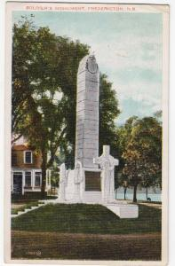 Soldier's Monument, Fredericton NB