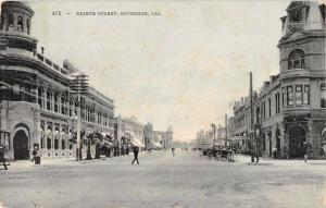 Riverside California Eighth Street Antique Postcard J76356
