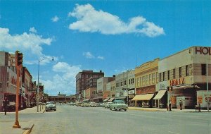 Abilene TX McClellan's Other Storefronts Old Cars Postcard