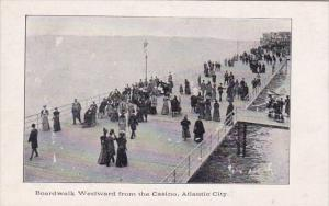 New Jersey Atlantic City Boarwalk Westward From The Casino