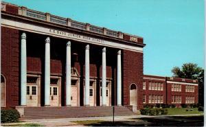 GREENVILLE, MS Mississippi   E E Bass JUNION HIGH SCHOOL   c1950s  Postcard