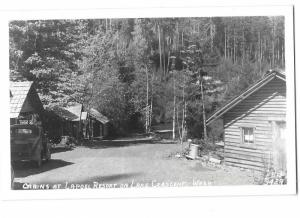 RPPC La Poel Resort Cabins on Lake Crescent Washington State 1947 Ellis