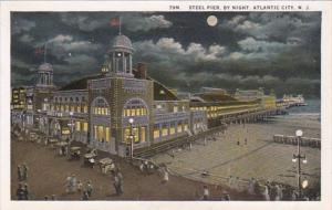 New Jersey Atlantic City Steel Pier By Night Curteich