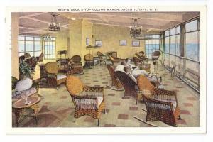 Ship's Deck Colton Manor Atlantic City NJ 1942 kropp