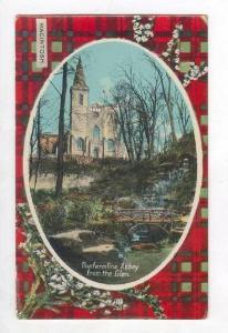 Dunfermline Abbey from the Glen, Scotland 00-10s MacIntosh tartan