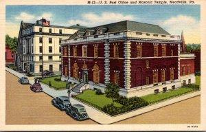 Pennsylvania Meadville Post Office and Masonic Temple