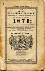 The Old Farmers' Almanac (Robert B Thomas)-1871 (8 X 5.125)48pp, stringbound