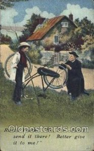 Cycling, Bicycle, Bicycling 1911 light crease bottom edge hard to see from fr...