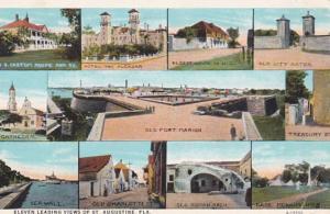 Florida St Augustine Eleven Leading Views 1930 Curteich