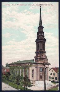 First Presbyterian Church Norristown Pennsylvania used c1910
