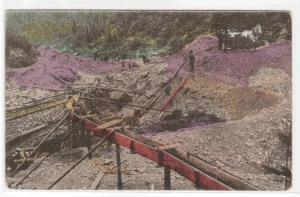 Gold Mining in Australia 1910c postcard