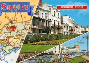 Bognor Regis Sussex Map Promenade Auto Vintage Cars