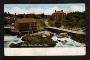 ME Goose Falls CASTINE HARBOR MAINE PC Postcard UDB