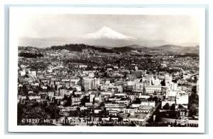Postcard Mt Hood as seen from Portland, OR *back adhesive* 1925-1940 RPPC I21