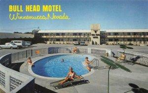 BULL HEAD MOTEL Winnemucca, NV Swimming Pool Roadside c1960s Vintage Postcard
