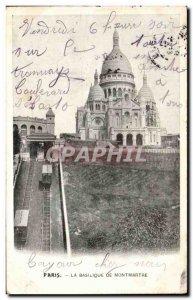 Old Postcard From Paris Basilica Sacre Coeur Montmartre
