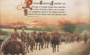 Onward Christian soldiers(2) Horses Old vintage Bamforth PC # 4968/2