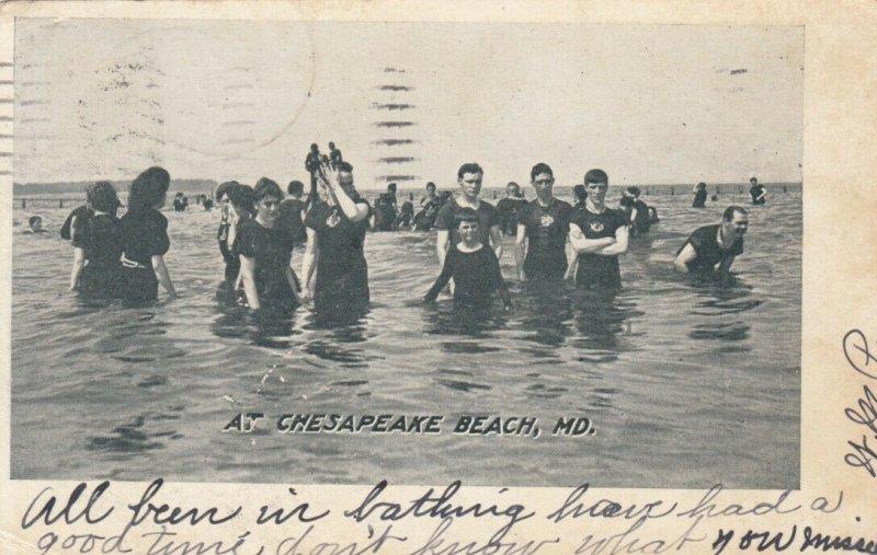 CHESAPEAKE BEACH , Maryland , 1906 ; Swimmers