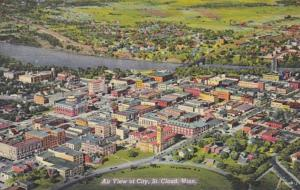 Minnesota St Cloud Aerial View Of City Curteich