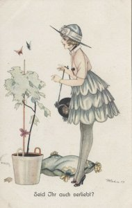 ART DECO ; Female wearing pink bolero and gray 3-tiered short skirt, 1910-20s