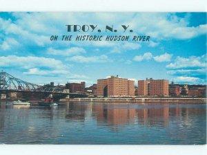 Pre-1980 RIVER SCENE Troy New York NY AE5715