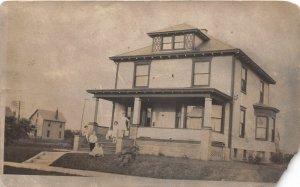 F71/ Canton Ohio RPPC Postcard 1914 Home Residence Family