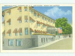 Linen MONTICELLO HOTEL Alexandria Bay New York NY HQ3969