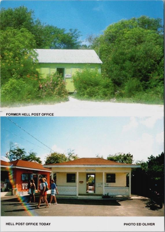 Post Office Hell Grand Cayman Islands BWI Unused Vintage Multiview Postcard D34