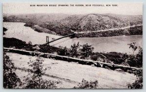 Peekskill New York~Bear Mountain Bridge Over Hudson River~c1910 Conoco Postcard