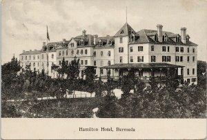 Hamilton Hotel Bermuda Postcard F92 *as is